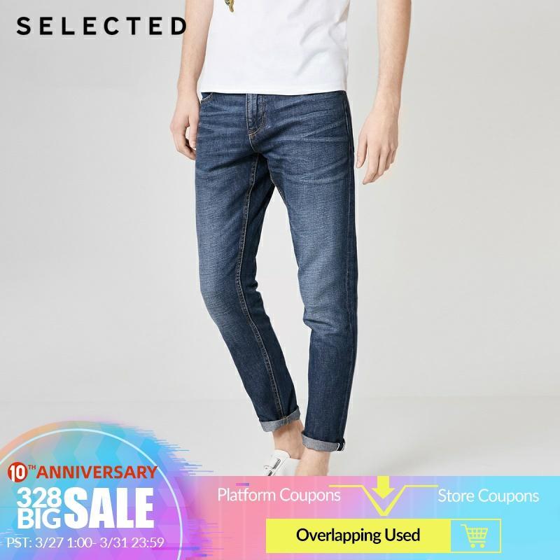 SELECTED Men's Loose Fit Blended Denim Pants Cotton & Linen Jeans C|419232518