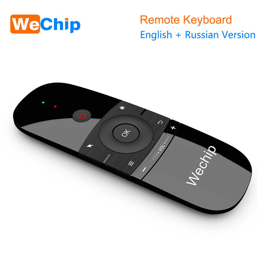Nuevo original wechip W1 teclado ratón inalámbrico 2.4g Fly Air ratón recargable mini Control remoto para Android TV box/ mini PC/TV
