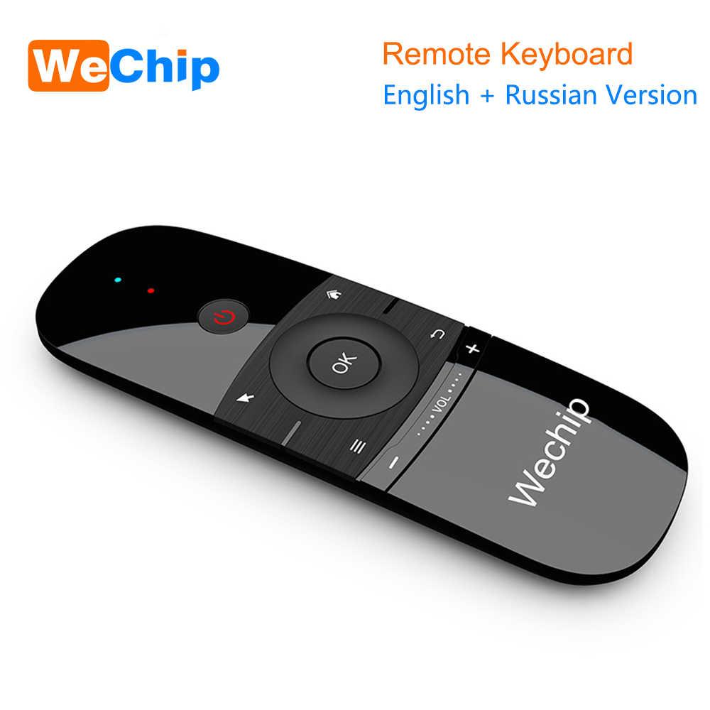 New Original Wechip W1 Clavier Souris Sans Fil 2.4G Fly Air Souris Rechargeable Mini Télécommande Pour Android Tv Box/Mini Pc/Tv