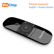 New Original Wechip W1 Keyboard Mouse Wireless 2.4G Fly Air Mouse Rechargeble Mini Remote