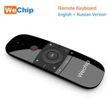 Novo original wechip w1 teclado mouse sem fio 2.4g voar ar mouse rechargeble mini controle remoto para android caixa de tv/mini pc/tv
