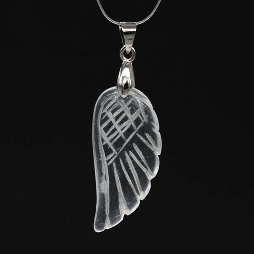 UMY New Stylish Silver Plated Rock Crystal Wing Of Angel Vintage Pendant Fashion Jewelry