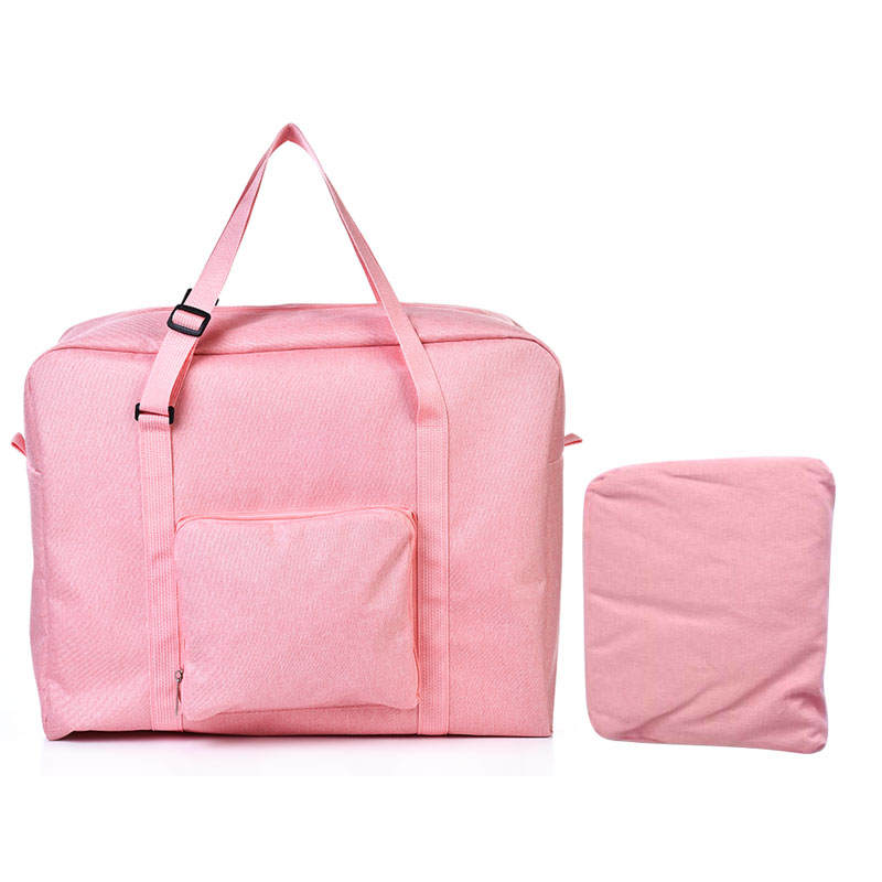 Мужские дорожные сумки, водонепроницаемая нейлоновая складная сумка для ноутбука, вместительная сумка для багажа, дорожные сумки, портативные женские сумки - Цвет: pink