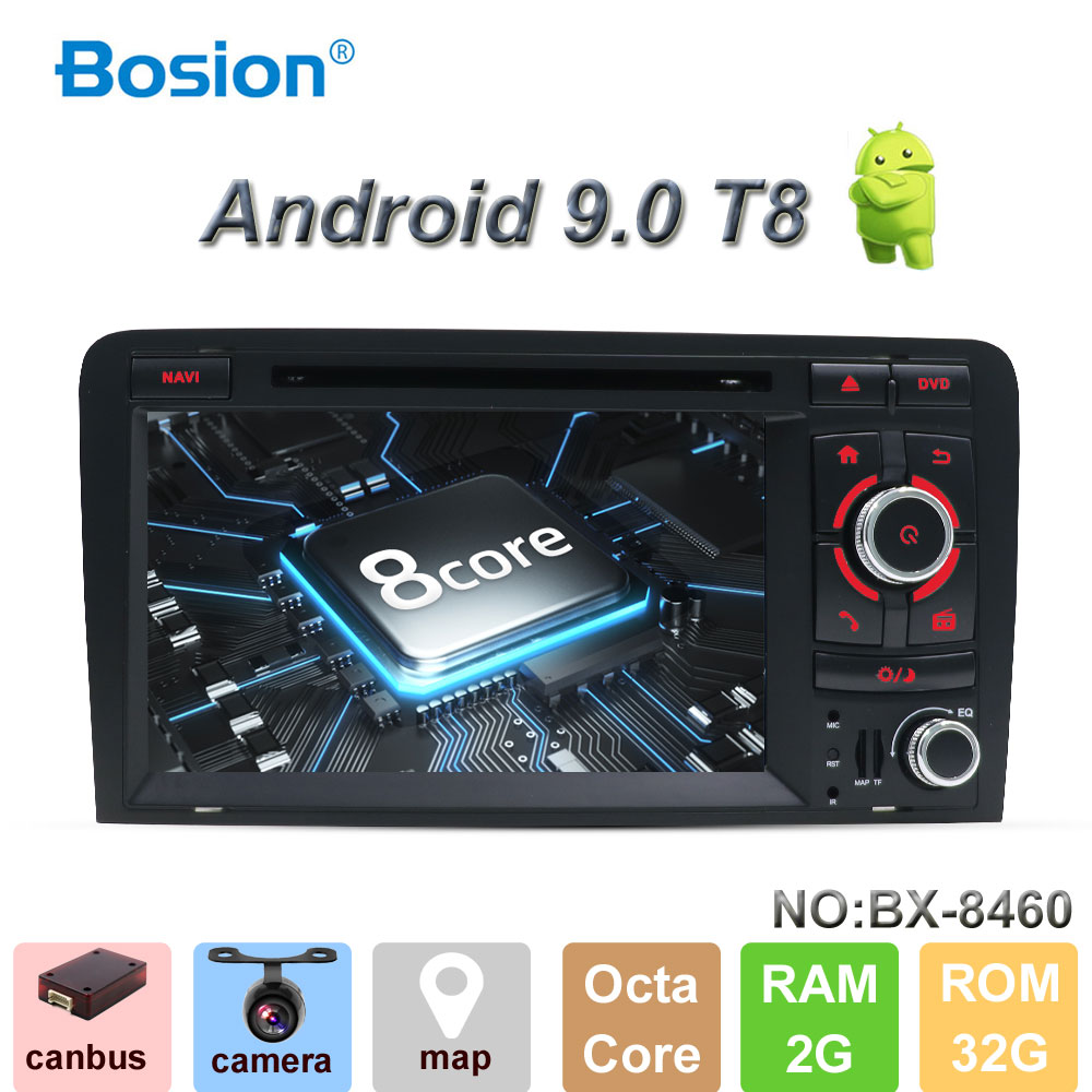 Bosion 7 inch HD 2 Din Car Radio Stereo Android 9 0 Octa Core DVD Player