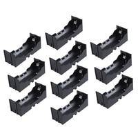 Plastic Single 26650 Battery Holder Case Storage Box 10Pcs Black