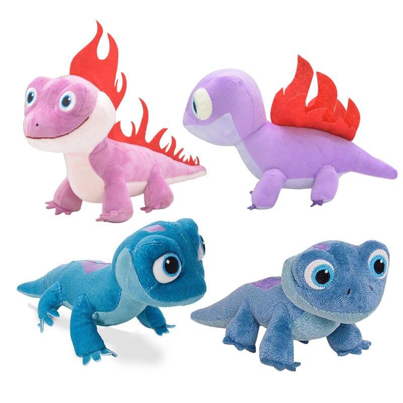 2020 NEW Pink Fire Lizard Fever Fire Elves Sa Anna Elsa 2 Salamander Plush Toy Stuffed Doll Snowman Olaf Doll For Kid Child Kids