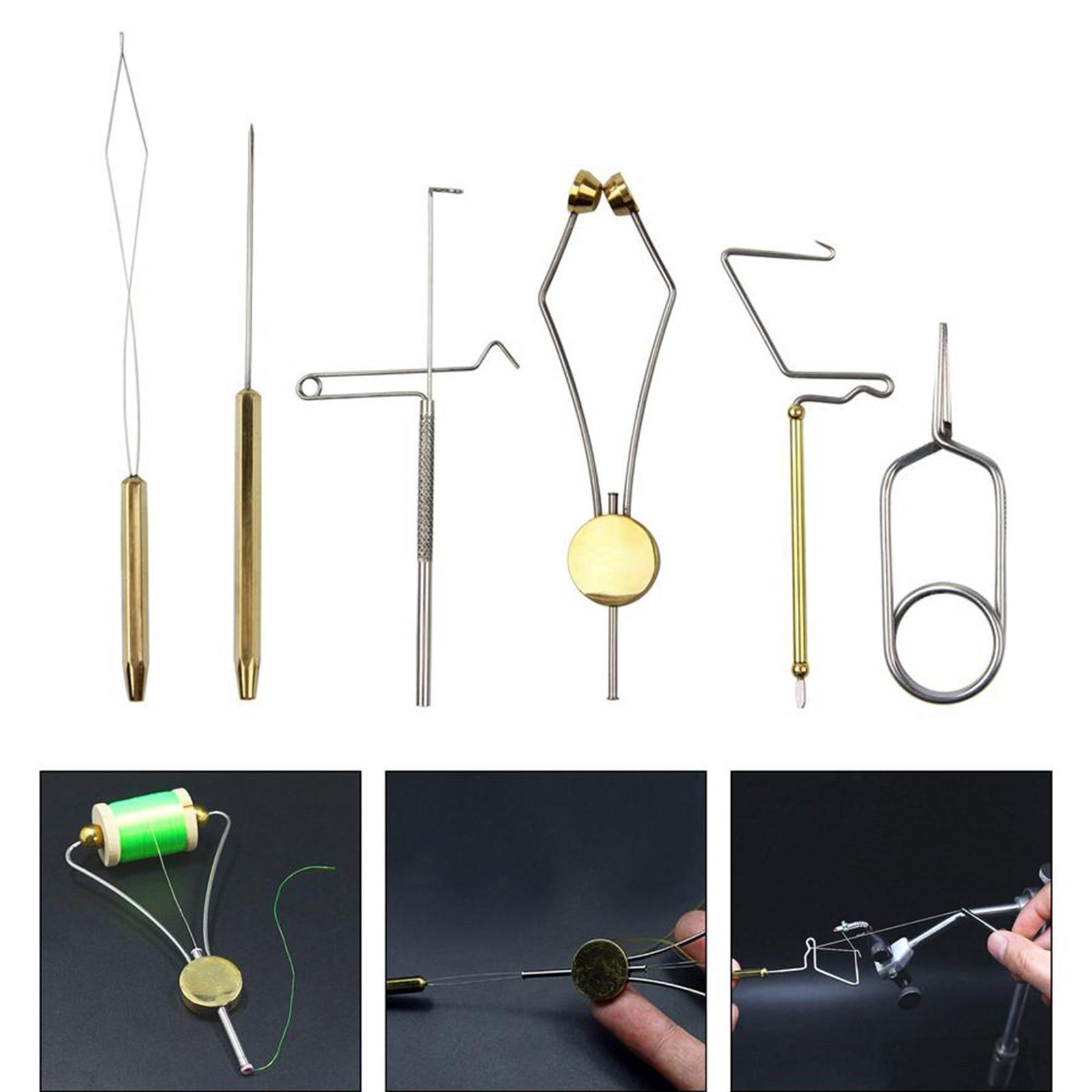 6 pçs voar amarrando ferramentas vise pesca