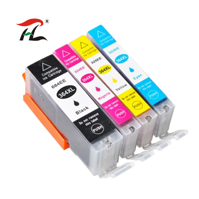 4pc 364XL Compatible Ink Cartridge for HP364 xl Photosmart for <font><b>hp</b></font> <font><b>364</b></font> 5520 5524 6510 6520 7510 B109 B110 B209 B210 C309 Printer image