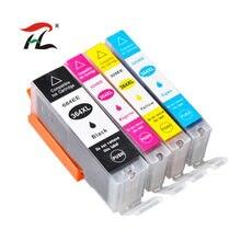 4pc 364XL Compatível Do Cartucho De Tinta para HP 364 xl Photosmart para hp 364 5520 5524 6510 6520 7510 B109 B110 B209 B210 C309 Impressora