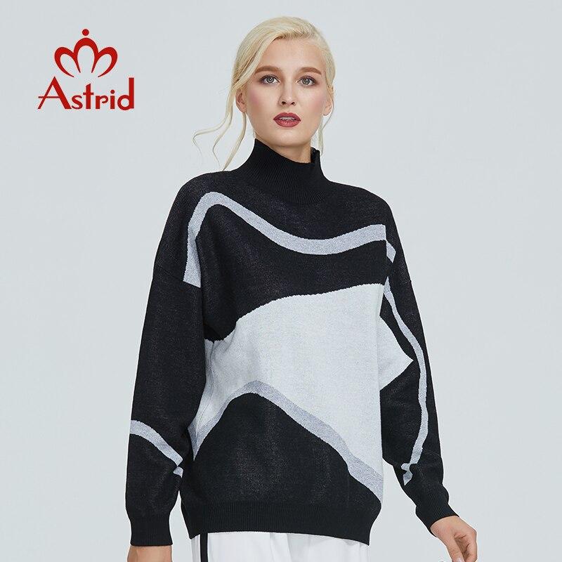 Astrid 2019 Herbst neue ankunft rollkragen pullover damen hohe qualität top schwarz-weiß neue fashi frauen kleidung damen MS-012