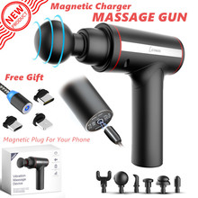 2020 NEW Muscle Massage Gun Sport Therapy Massager Body Relaxation Pain Relief Slimming Shaping Massager With Magnetic Charger