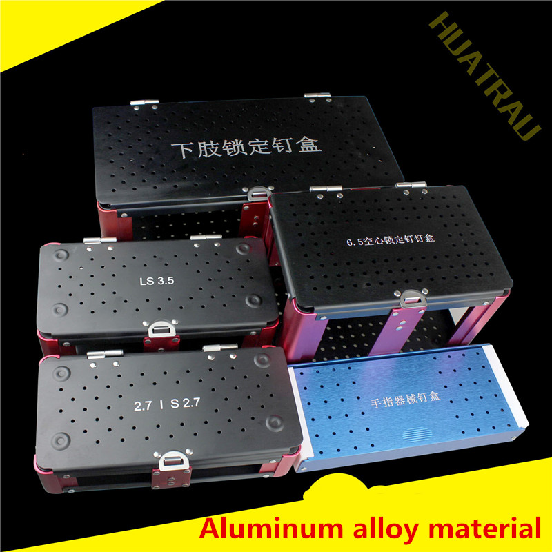 Orthopedic equipment medical 1.5 2.0 2.4 2.7 3.5 5.0 upper lower limb locking bone screw box 6.5 hollow nail disinfection case