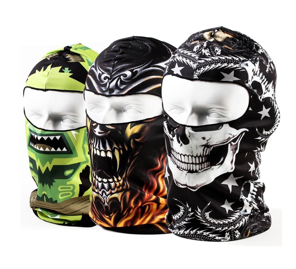 3D Animal Snowboard Bicycle Skull Cap Helmet Balaclava Headgear Hats Protection Winter Warmer Halloween Liner Full Face Mask