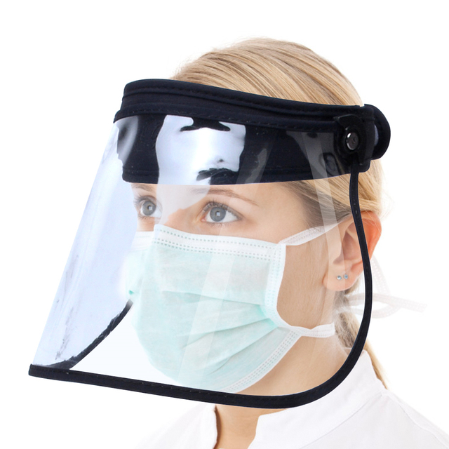 Transparent Washable Face Shield Anti-Saliva Splash Anti Droplet Dust-proof Full Face Cover Mouth Mask Protective Visor Shield 5