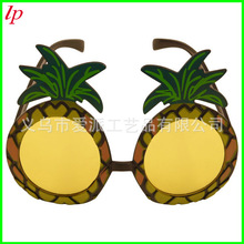 Hawaii beach pineapple fruit shape glasses dance party plastic Photo props kids toys Hawaiian Party Decorations