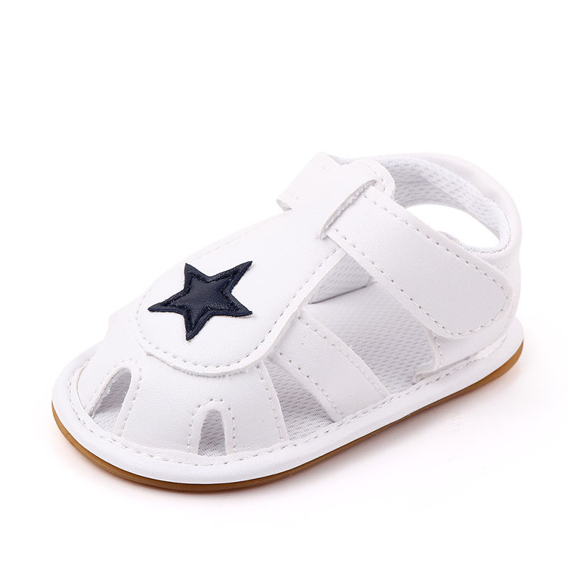 Summer New Baby Shoes Cute Star Print Soft PU Leather Sandals for Baby Boy Girl Baby Girl Sandals Non-slip Infant Toddler Shoes