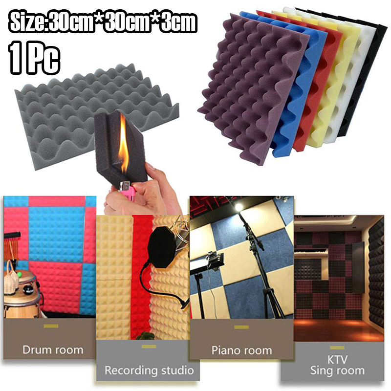 1pcs 30x30cm Soundproof Foam Egg Profile Sound Absorbent Foam Acoustic Panel Noise Absorption File for KTV Audio Room