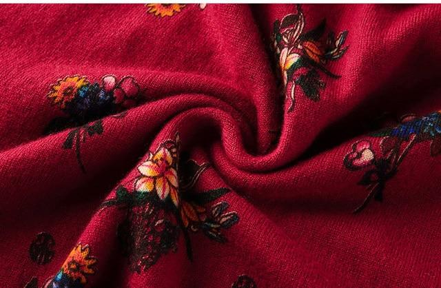 ZUOMAN New red wool knitting dress female autumn/winter 2020 v is gotten loose long hair dress knee-length dress 6