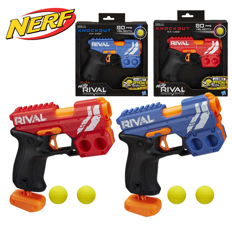 Hasbro NERF KNOCK OUT XX-100 Soft Ball Bullet Gun Outdoor Toy Boy Kids Gifts