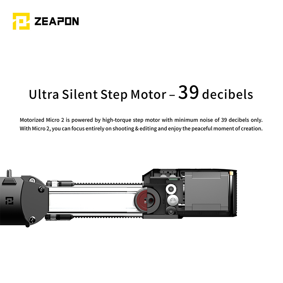 Image 2 - In Stock Zeapon Motorized Micro 2 Rail Slider Portable Aluminum Alloy for DSLR Mirrorless Camera w/ Easylock 2 Low Profile MountRail Systems   -