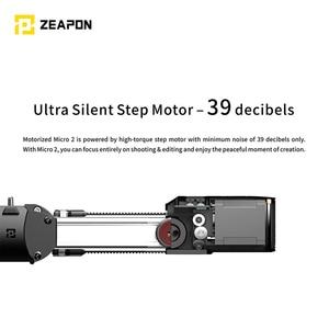 Image 2 - ในสต็อก Zeapon ไมโครมอเตอร์ 2 Rail Slider อลูมิเนียมแบบพกพาสำหรับกล้อง DSLR Mirrorless W/Easylock 2 ต่ำ profile MOUNT