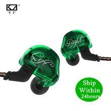 Kz zsr 1DD + 2BAハイファイスポーツin 耳イヤホンダイナミックドライバノイズキャンセヘッドセット交換ケーブルAS10 ZS10 zst