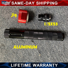 Aluminum 1/2x28 Fuel Filter modular For Car 10 inch 9mm jig solvent trap adapter 5/8x24