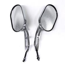 цена на 2pcs Universal 10mm Motorcycle Rearview Mirrors For Honda Shadow Ace Spirit Magna VT750 VT1100 VF750 Motorcycle Accessories