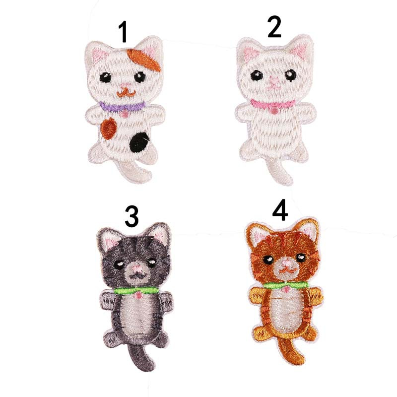 Embroidery Patch Stickers Computer Embroidery Chapter Full Embroidery Cartoon Cute Pet Small Animal Patch Stickers For Bag Cloth