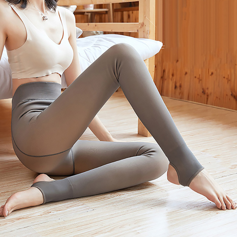 NORMOV Women Thick Leggings Winter Warm High Waist Push Up Polyester Leggings Sexy Velvet Slim Leggings Female Clothes Thick