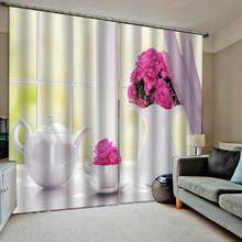 European Luxury Curtains The Living Room Bedroom Curtains Blackout Window Drapes Beautiful Romantic Wedding Room Drapes(China)