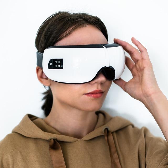 Smart 3D/6D Eye Massager Voor Ogen Rimpels Elektrische Ogen Care Draagbare Trillingen Ogen Massage Bril Vermoeidheid Anti Dark cirkels