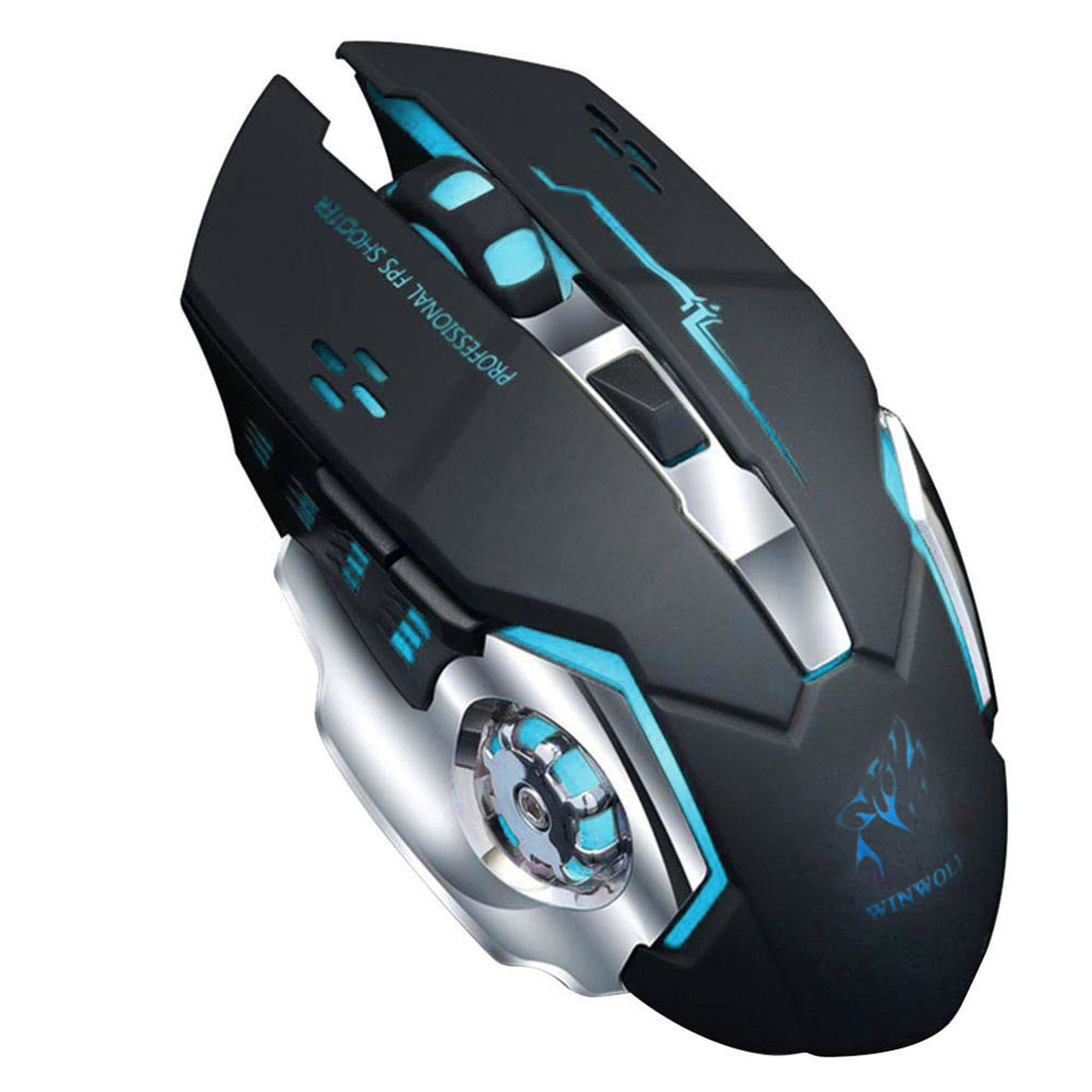 Rechargeable 2.4ghz Wireless Gaming Mouse With Usb Receiver 7 Color Led Backlight Professional Game Player Mute Mouse #10