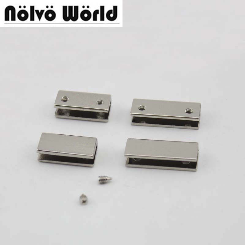 100pcs 20mm 25mm 34mm 38mm 7 colors bag purse strap decoration end clips by screws,high quality square strap cover clasp