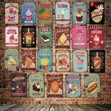 [ DecorMan ] Fast Food Pacaroons FRIES PIZZA Wall Signs Custom Poster Metal Paintings Bar PUB Decor LT-1792 поло print bar pizza