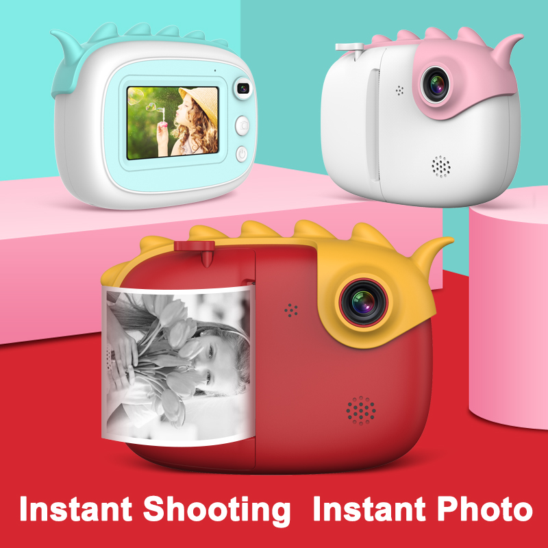 New Kids Camera 28M Pixel Front Rear Camera 3 Inch Touch Screen Photo Video Educational Toys Instant Printing Camera Kids Toys