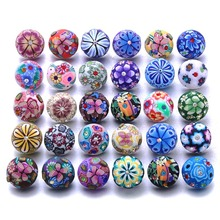10 Pcs/lot New Snap Button Jewelry Mixed Style Ginger Resin 18mm Snap Buttons Fit Snap Bracelet Bangles Button Snap Jewelry