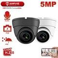 Hikvision Совместимость Anpviz 5MP POE IP камера Открытый/Крытый 2592x1944 купол безопасности видео наблюдения Аудио встроенный микрофон