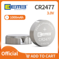 CR2477 3.0V 1000mAh EEMB 40PCS Li-MnO2 Non-Rechargeable Lithium Battery 3V Coin Cell Battery Manufacturer price Shipping Free
