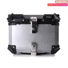 45 55 65L Aluminum Motorcycle Rear Tail Luggage Helmet Box Trunk Storage Case Top Tool Key Case Waterproof Universal Accessories customized motorcycle trunk motorbike storage box mould motorcycle tail box top case mold making