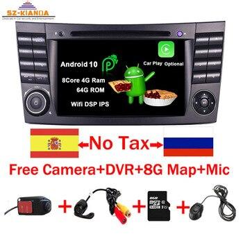 2020 Latest Android 10.0 IPS Touch Screen Car DVD Player For Mercedes Benz E-Class W211 E200 E220 E300 E350 Quad Core Wifi Radio