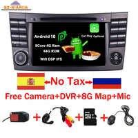 2020 neueste Android 10,0 IPS Touchscreen Auto DVD Player Für Mercedes Benz E-Klasse W211 E200 E220 E300 e350 Quad Core Wifi Radio