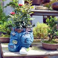 American Pastorale Retro Trousers Flower Pot Room Study Hallway Cowboy Art Pot Plant Pot Outdoor Garden Decorations R2918
