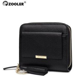 Популярный кошелек ZOOLER из натуральной кожи, кошелек из кожи известного дизайна на молнии, кошельки известного бренда, кожаные кошельки для ...
