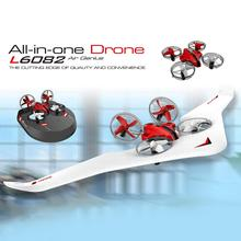 3 in 1 RC Vehicle Flying Drone Land Driving Boat Mini Quadcopter Glider Hovercraft Boat Mode Fixed Wing Children Kids Toy Gift