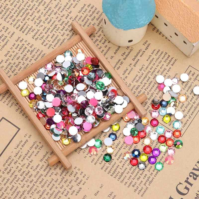 Crystal Rhinestone Sequins 30g 6mm Acrylic Gemstone Flat Back DIY Wedding Dress Clothing Lightweight Creative Accessory