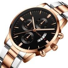 Military Gold Quartz Watch Top Brand Lux