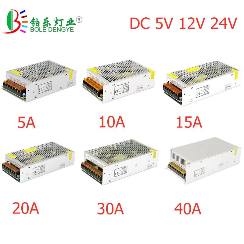 Светодиодный Мощность адаптер Освещение Трансформатор переменного тока 100V-240V DC/DC 5V 12V 24V Переключая Питание 1A 2A 3A 5A 10A 20A 30A светодиодный драйв...