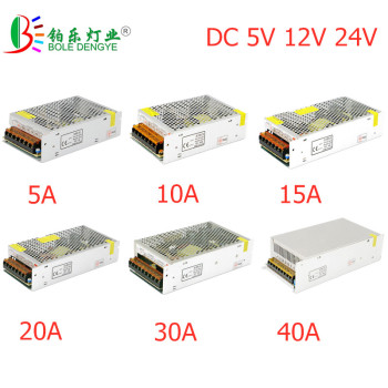LED Power Adapter Lighting Transformer AC 100V-240V To DC 5V 12V 24V Switching Power Supply 1A 2A 3A 5A 10A 20A 30A LED Driver dc 24v 2a 48w switching power adapter 24v 2a 48 watts voltage converter regulated switch power supply for led