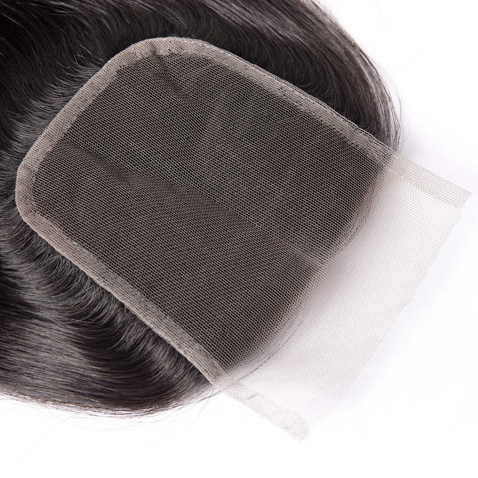 Königin Nala OneCut Haar 4x4 Spitze Verschluss Brasilianische Gerade Remy Haar Natürliche Farbe Schweizer Spitze Menschliches Haar Verschluss